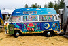 When I went to this festival years ago (when I lived in WA, so it must have been at least 18 years go), it seems that many of the vehicles were either decorated old VW minibuses like this or were old full-size buses which had other vehicle bodies (often VW minibus) welded on top to create rather bizarre-looking (but in an interesting way) 2-story vehicles. I did not see any of those double-deckers this year.