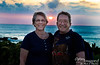 Marsha and Steve at sunset at Waikoloa Hilton.  A great place to be for the sunset!