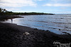 Punalu'u Black Sand Beach.  Big Island is one of the very few places where Green Sea Turtles come out of the water to nap on the sand.