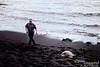 The Hawaiians are diligent about protecting these endangered sea turtles.  It is illegal to get within 10 feet of one (we didn't take a tape measure, but I think Steve is barely legal here).