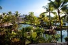 This is the view while awaiting the elevator.  We are looking south over the Waikoloa Hilton grounds.