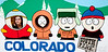 """Fairplay, Colorado:  The largest town in the South Park Basin.  And yes, this really IS the South Park on which the cartoon is based.  So now, if anyone ever asks Bri if she has any experience as a cartoon character, she can truthfully reply """"I was once in South Park."""""""