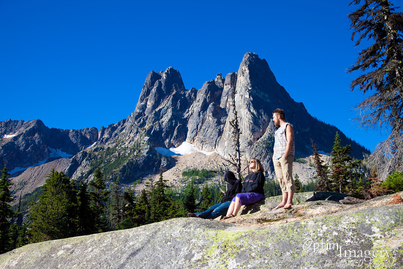 Liberty Bell Mountain, first ascended in 1946.  I think I'll admire it from down here at the top of Washington Pass.