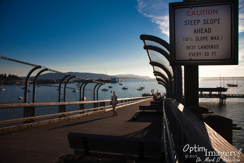 """Bellingham has this nice sort of """"pier walk"""" called South Bay Trail.  It's very nice of them to place """"runaway stops"""" for people who get to going too fast as they walk (or bike -- or wheelchair) down the 10% incline"""