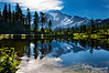 Mount Shuksan, reflected in Picture Lake.