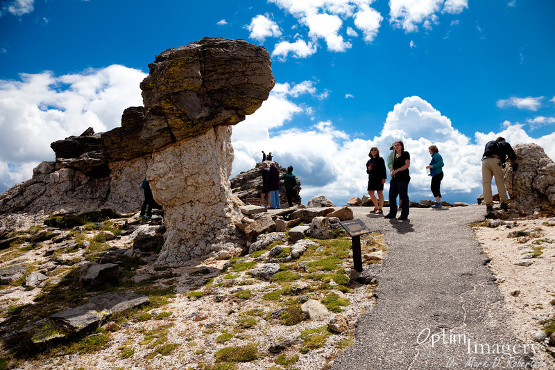 """Cool formations on the """"spine"""" of trail ridge, jutting up out of the tundra."""