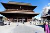 The Sanmon (entrance gate) to Zenkō-ji.