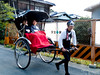 Modern transportation for the Geisha. These guys go up and down hills, and always seem to be smiling.