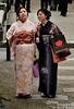 Geisha? Maiko? Or just a couple of Japanese ladies enjoying the day in kimonos?