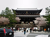 For instance, the entrance to Yasaka Shrine is a Sanmon (mountain gate), which (it's my understanding) is based on Zen Buddhism. This shrine dates back to 656, but most of the buildings were reconstructed in 1654.