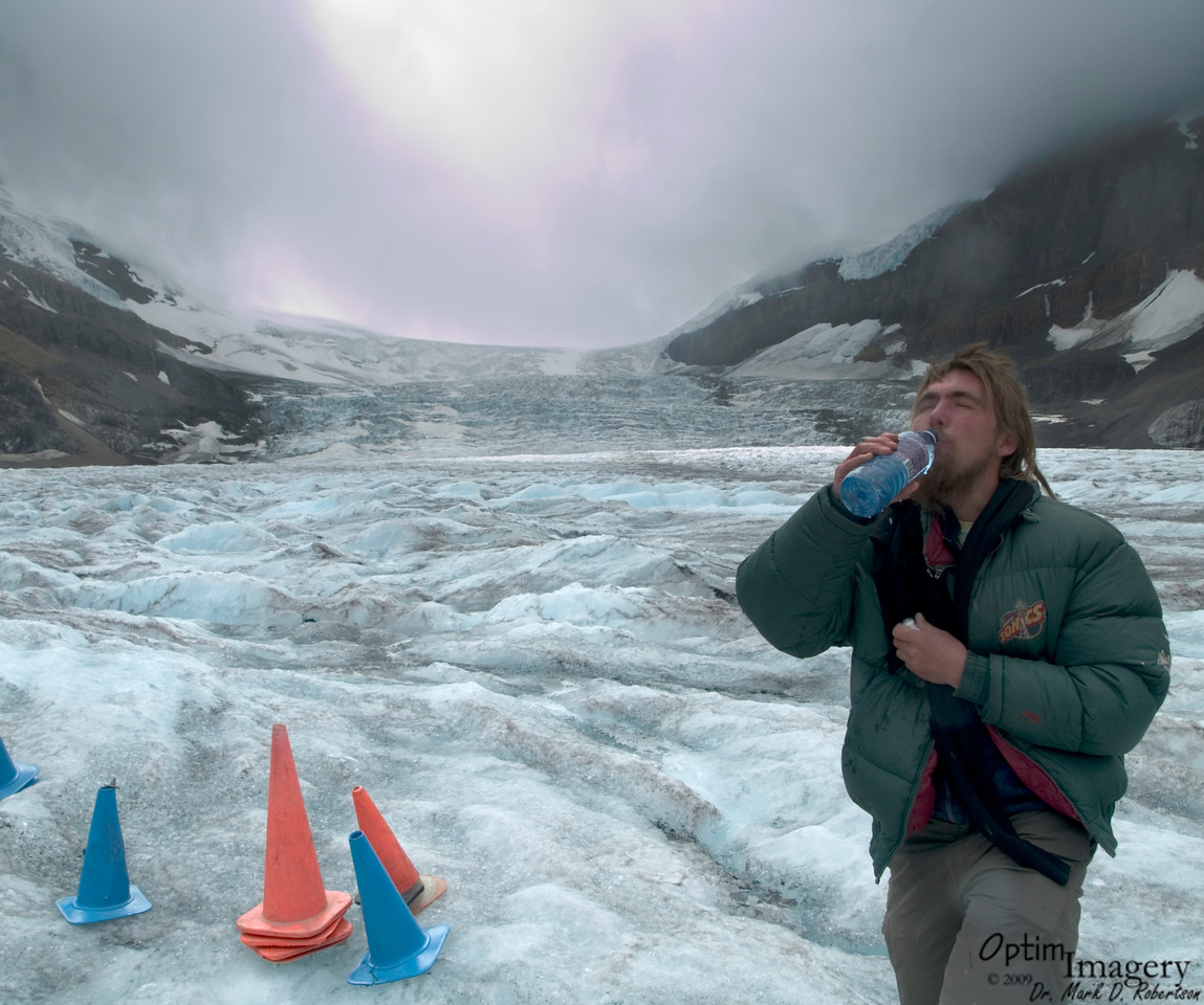 Wonderful, fresh, glacier water!  Probably better than the Rocky Mountain Spring water use to make beer, right Zac?