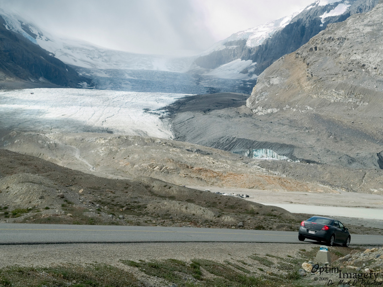 This is where the glacier extended to in 1908.  The pathway you see in the distance with the people on it is where we were in the last few photos.