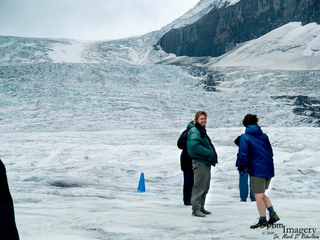 The walking area was cordoned off with cones.  The guide and all reading material available emphasized that there are hidden crevasses lurking just outside the safety zone and all over the rest of the glacier.  Reportedly, they do occasionally loose people who decide to wander out across the rest of the glacier.
