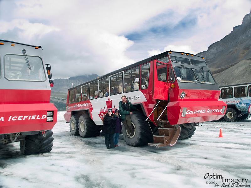 Look at THESE people, for instance!  Who WOULDN'T get a kick out of watching THEM?<br /> <br /> The Snow Buses are totally custom built for use on this glacier by the Bombardier Corporation (a Canadian company, and parent of Leerjet).  Inflation is significant, in other ways than just these tires:  The older ones in the fleet cost only about $750,000.  The new ones were a cool $1.2 million each.  I guess they want you to know that so that you won't feel like they are gouging you with the ticket prices (which were indeed significant -- but the excursion is well worth it).