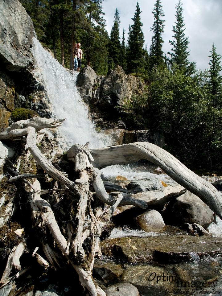 Other tourists enjoy Tangle Falls.