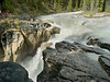 Among one of the local native tribes (Cree, perhaps, but I'm not sure), Sunwapta means turbulent waters.