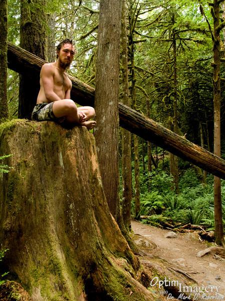 Zac on BIG stump.