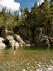 This cool swimming hole is in Bromley Rock Provincial Park.