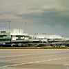 Actually, the descent was not bad.  Here you see Jeppesen Terminal Building at Denver International Airport.  It's my understanding that the designer wanted something symbolic of the Rocky Mountains.