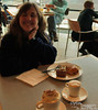 We still had some left over from our vouchers after lunch, so here we enjoy some dessert and espresso drinks, all the while hoping that Bri had called Patti in WA to find out why we weren't there as we said we would be. Ain't it great to live in a time when you can be late getting into the Netherlands, then call the U.S. to leave a message for someone in Germany?!