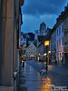 Fussen street. Hohes Schloss in background.