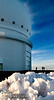 The CANADA-FRANCE-HAWAII TELESCOPE (CFHT) looks at visible and infrared light.  When it first started operating (in 1979), its 12 foot mirror was the 6th largest in the world.  Of course, many have since been built with much larger mirrors.  However, the CFHT has continued to provide cutting-edge images, due to the addition (in 2003) of the MegaCam camera.  You say you want your next digital camera to have lots of megapixels?  Well, the MegaCam has 340 megapixels!  Imagine the detail you could capture with THAT puppy!  Oh, the main DISadvantage of having a camera like that (for folks like you and me):  EACH shot requires about 700 megabytes of storage (so an entire CD could hold only ONE shot!).  Also, I'm sure that PhotoShop would crawl along pretty slowly on my computer if working on such images.