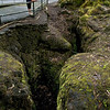 Can you imagine lava, hot enough to be nearly watery-thin, gushing down this fissure-drain?  Amazing.