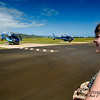 The following day skies were much clearer.  Still somewhat windy, but the folks at Blue Hawaiian Helicopters seemed reassuringly confident.