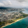 Please return your seats to the full upright position and stow your trays.  We are on final approach to Honolulu!