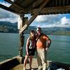 Bev and me on a pier in Hanalei Bay.
