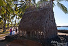 """1/2 scale model thatch hut in Puʻuhonua O Hōnaunau National Historical Park.  This is the """"City of Refuge.""""  In tribal times, if an enemy soldier or fugitive could make it to this area, he would be forgiven and eventually given the right to return home unharmed."""