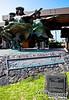Hula Kahiko -- Bronze sculpture at Kona airport.