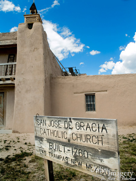 """Take the """"High Road to Taos"""" (NM 76) and you will pass through the small town and National Historic District of Las Trampas."""