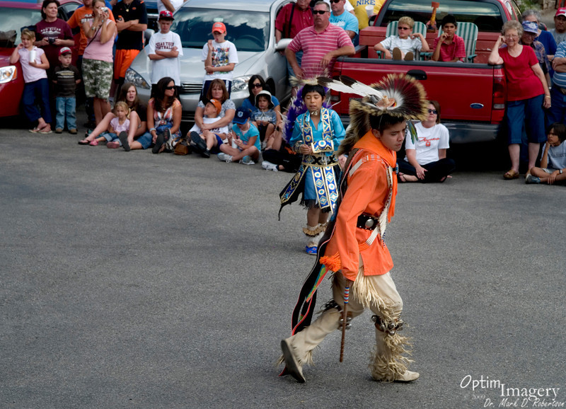 A Native American tribe from Taos sends some of their award-winning traditional dancers to Red River to show the customary moves.