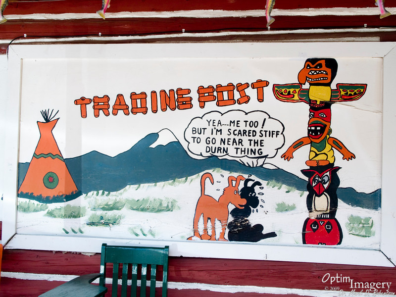 Mural at William's Trading Post.