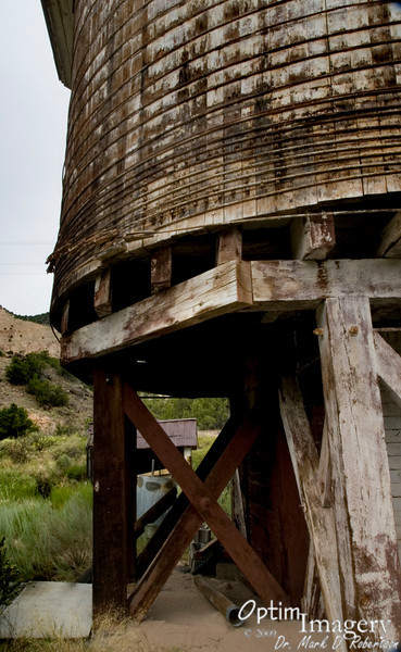 Rail service discontinued years ago, but there are still interesting artifacts from that period.  Here you see a water tower which use to be used to re-fill the mighty steam engines pulling people and freight through this valley.