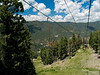 The view from the ski lift on the way down.