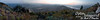 Panorama of 7 photos taken up on Chelan Butte.  Our elevation is about 3,300 feet.  The left edge was facing east by southeast.  <br /> <br /> The river you see in the distance left-of-center is the Columbia, elevation in that area about 710 feet.  The small hump between the bodies of water is Little Butte.  Lake Chelan, elevation 1,100 feet, is to your right from Little Butte and is northwest of us as we take the photos.<br /> <br /> There were some forest fires around the area, making some smoke in the air, and giving the red-orange cast to the sunset.