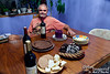 """Our house in Chelan.  Tom, with some delectable cake that he made for the """"welcome home Mark"""" occasion...."""