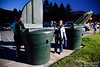 Olga was impressed with the miniature garbage cans at Don Morse Park.