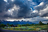 The Tetons with a dramatic skyscape.  How can you beat that?