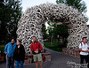After we claimed a tent space in a large campground in southern Grand Teton National Park, we headed into Jackson for the evening.  There are 4 of these antler archways, one in each corner of the central park.  Must be a few elk around.