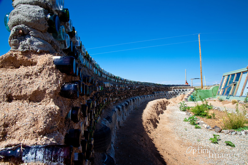 Northwest of Taos, at the Taos Earthship headquarters.