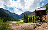 Beautiful view and historic mining artifacts just north of Silverton.