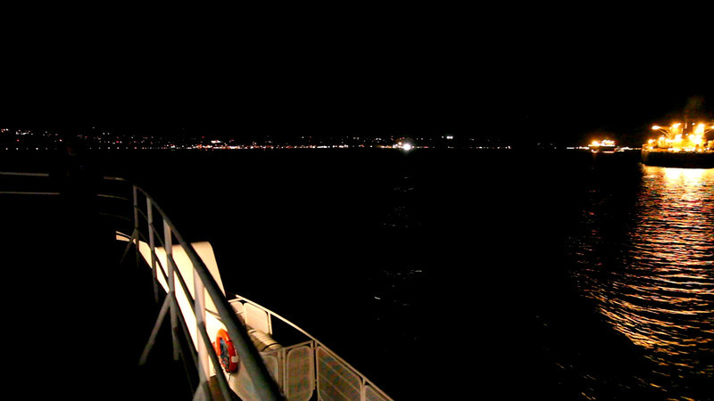 The M.V. Coho, a 341-foot long, 5,135-ton ferry with a capacity of 115 vehicles has served the route between Port Angeles, WA and Victoria, B.C. for 50 years.  We caught the last sailing for the night.