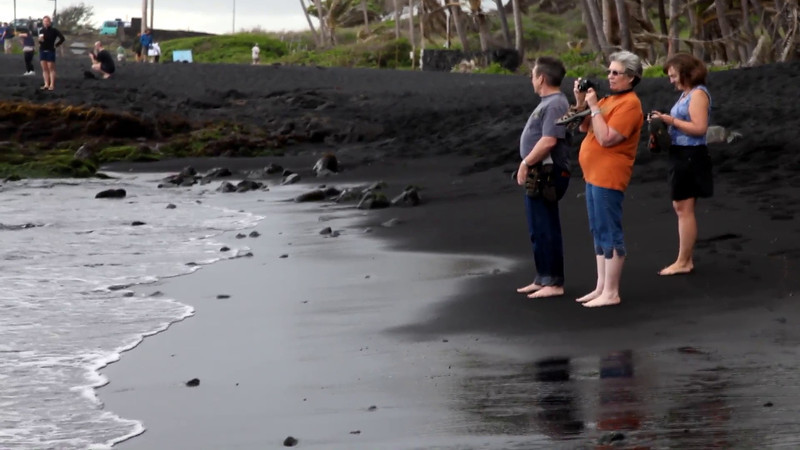 "Punalu'u Black Sand Beach.  Music by Kevin MacLeod of   <a href=""http://incompetech.com/"">http://incompetech.com/</a>"