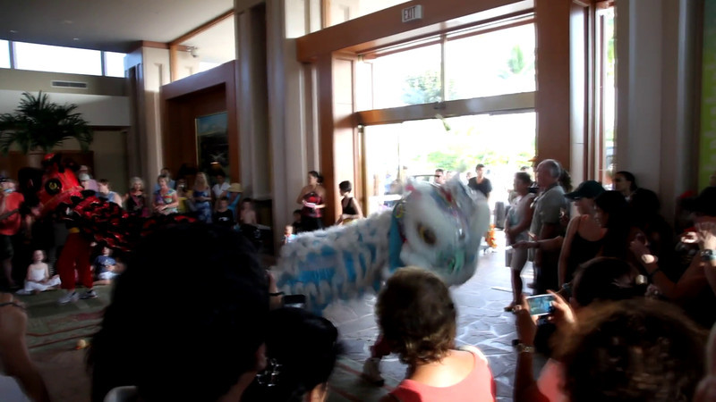 Chinese New Year celebration in the main lobby of Waikoloa Hilton.  Happy Year of the Water Dragon!
