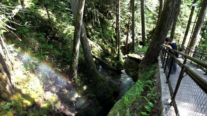 Rainbows and waterfalls along Ladder Creek (behind Gorge Powerhouse).