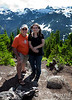 Bri and me at the top of Huntoon Point, elevation 5,150 feet.