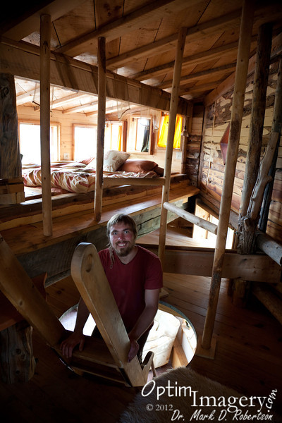 Zac shows us the second floor.  I'm not sure I would trust myself up here, since I often awaken pretty disoriented in the middle of the night.  One false step and.....